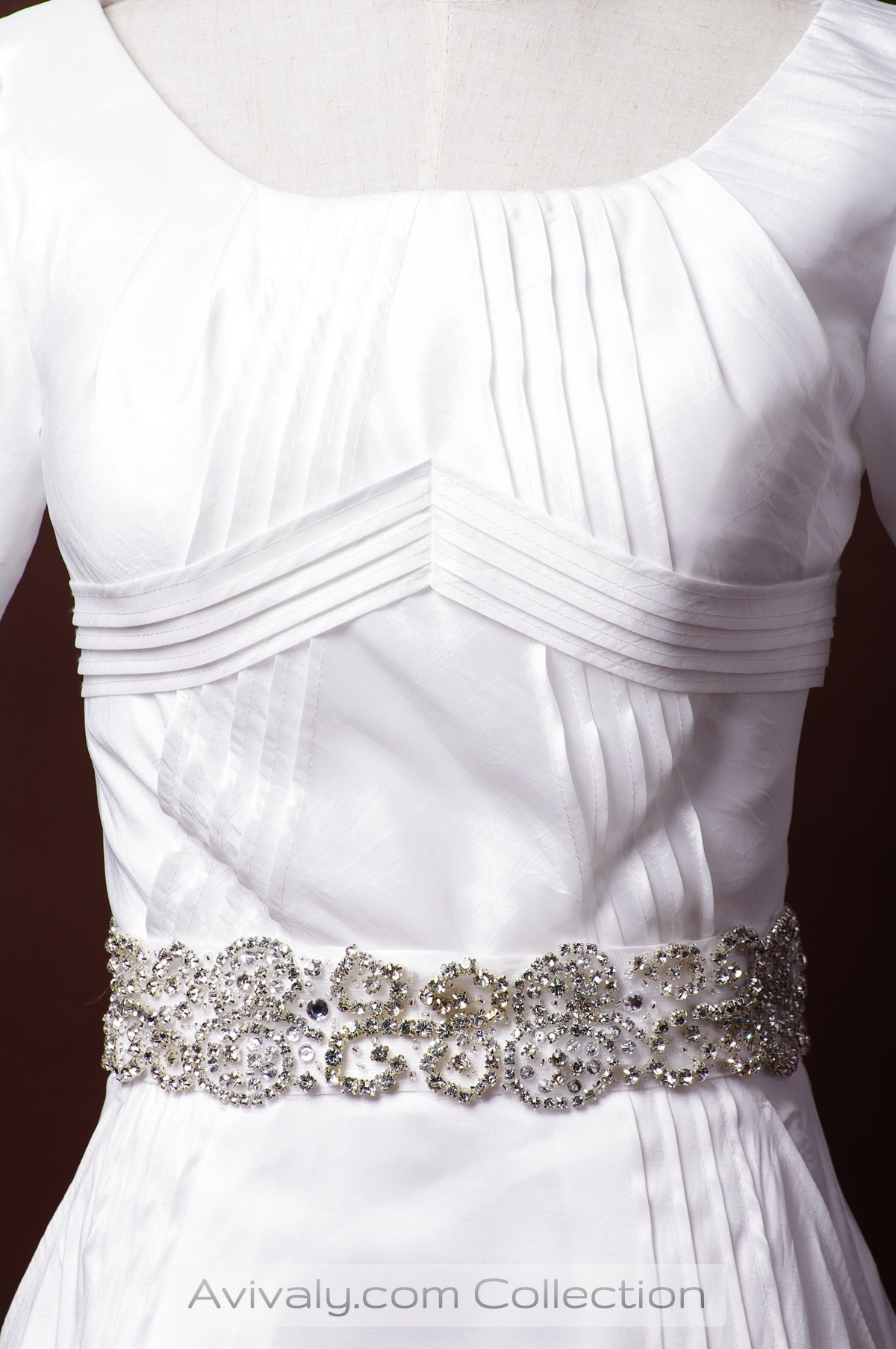 Beaded Belt, Stripped Triangle Front Bodice