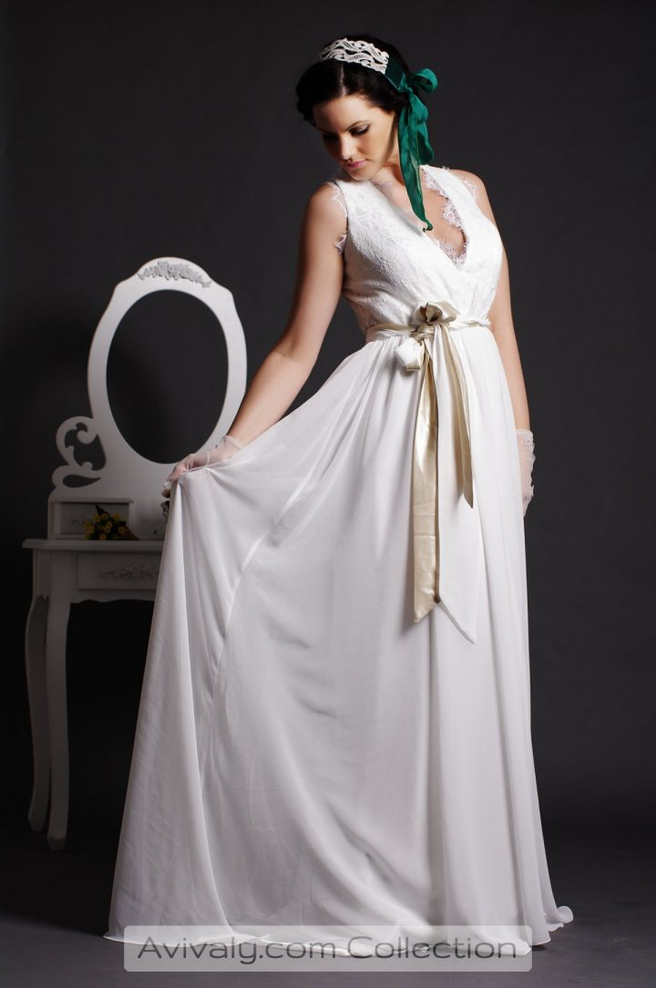 Goddess - White & Champagne Colored Belts are Twisted Together