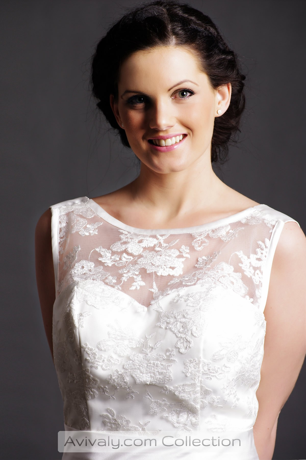 Jade - Lace on Sheer Bodice over a Satin Sweetheart