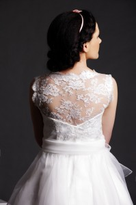 Lola - Floral Lace on See Through Back over V-neck