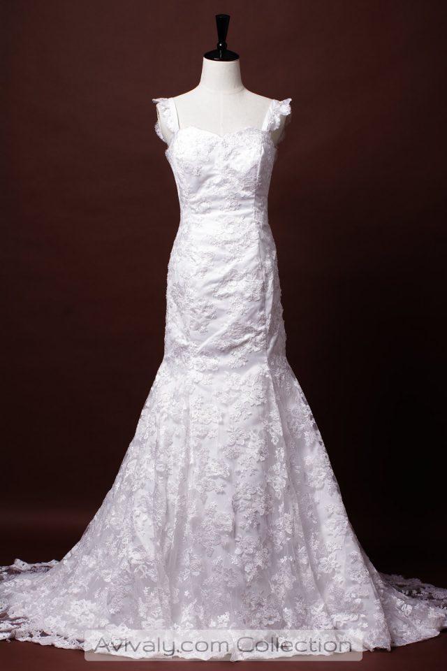 Mermaid Floral Lace Wedding Dress