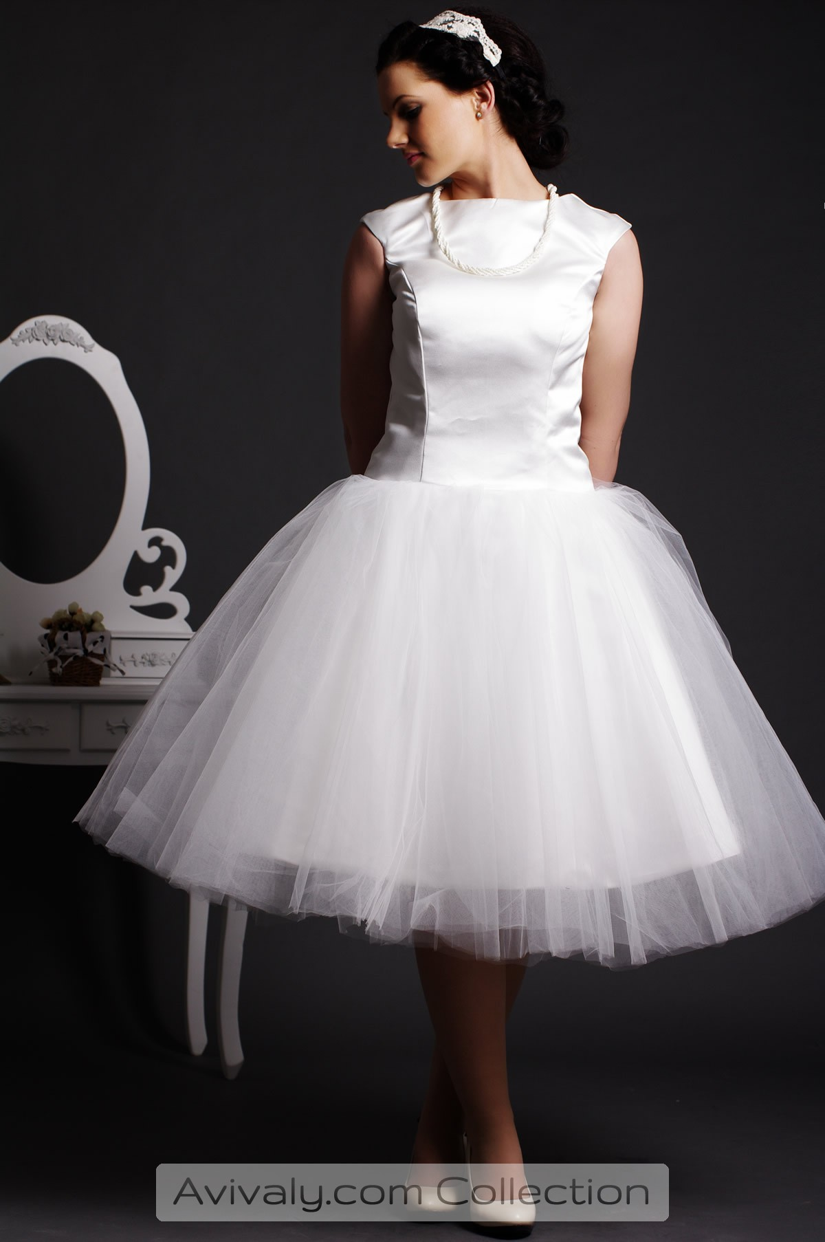 Musica - Satin Bodice with Layered Tulle Ball Gown Skirt