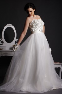 Petal - Ethereal Tulle Layered Floor Length Skirt in Pleated Style