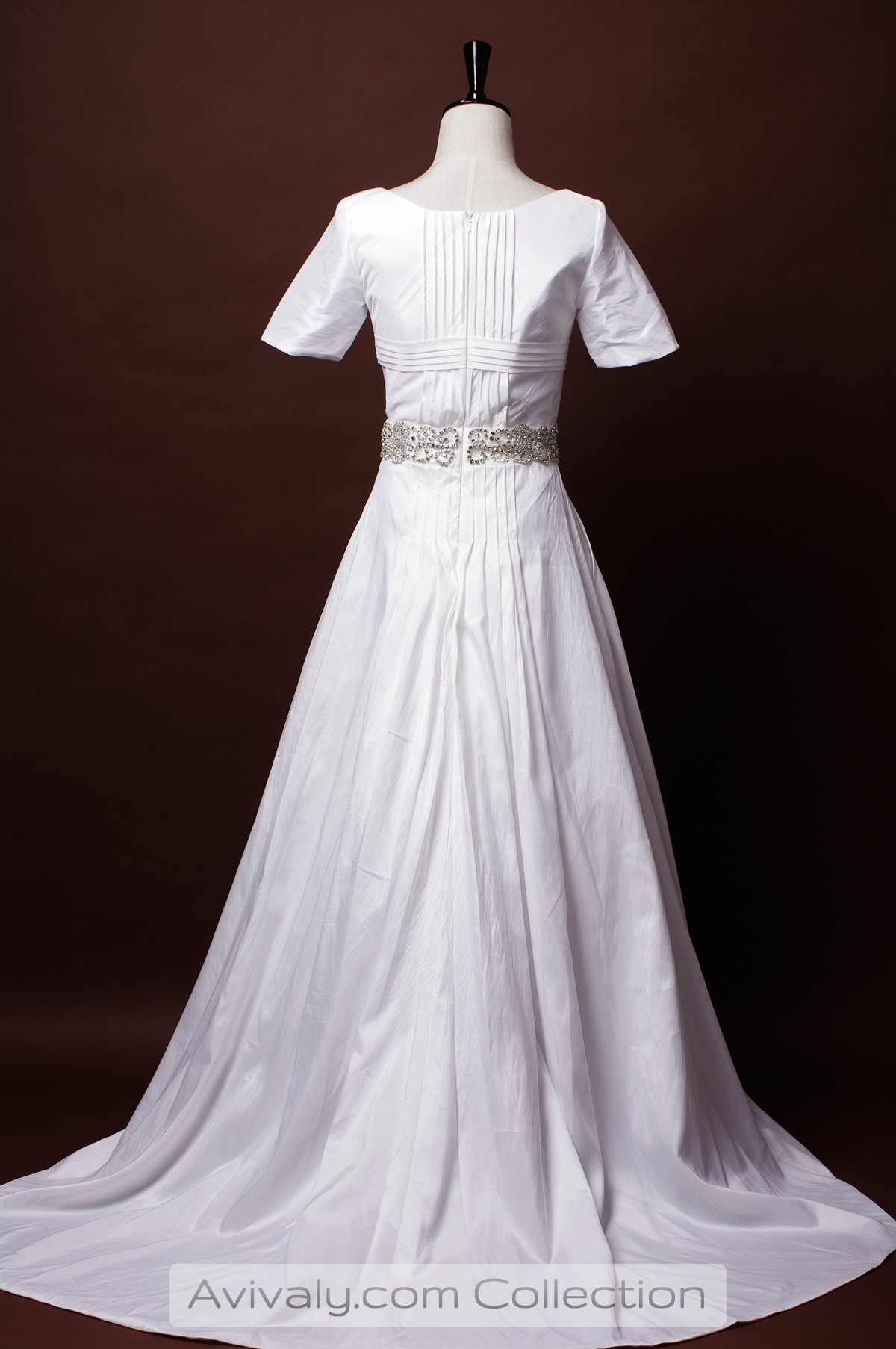 Pleated Back with a Court Train