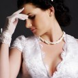 Ruby - Deep V-neckline & Cap Sleeves with Scalloped Hem
