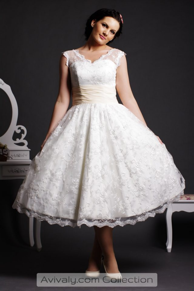 Willow - Lace Overall Short Wedding Dress