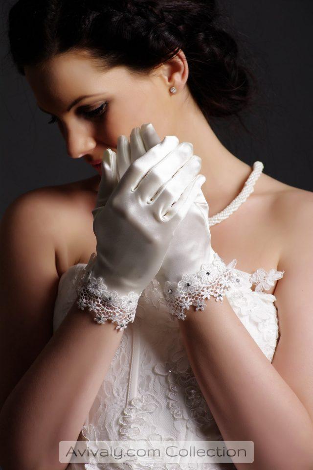 Beads on Lace Wrist