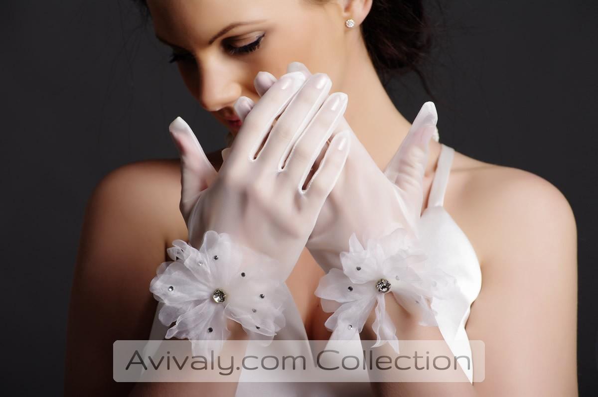 Tulle Bridal Gloves