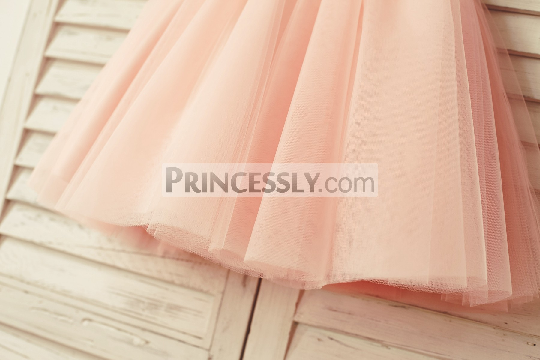 Blush Pink Tulle Layered and Pleated Skirt