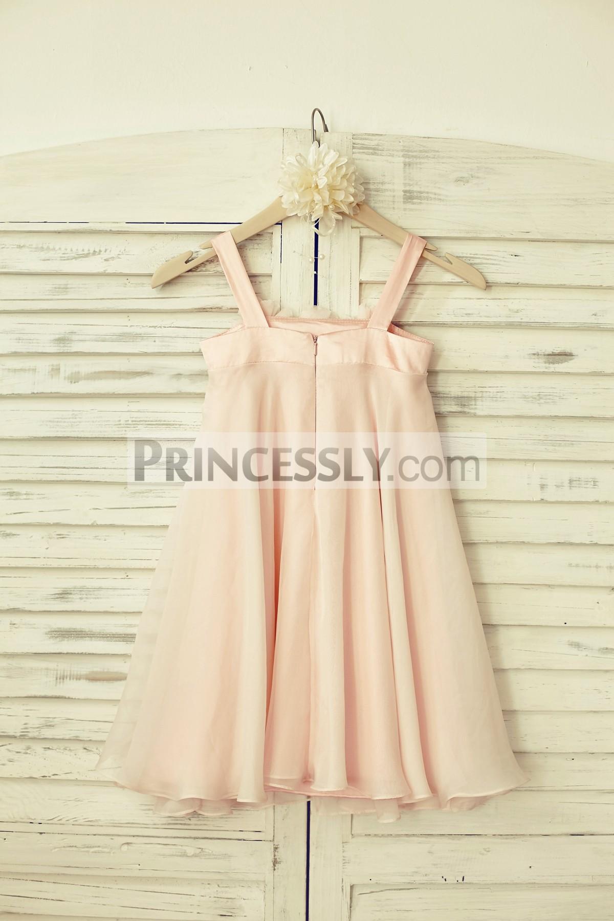 Chiffon Wedding Baby Girl Dress for Beach Wedding