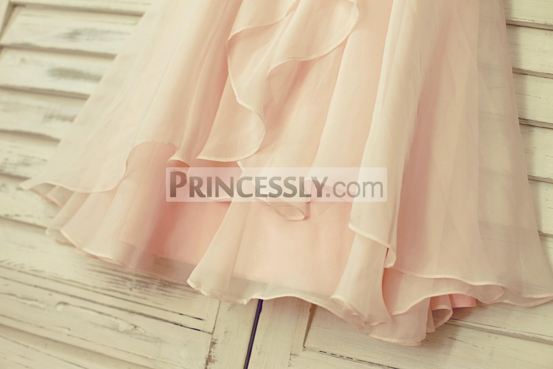 Overlay Skirt Ruffles Down for Blush Pink Skirt