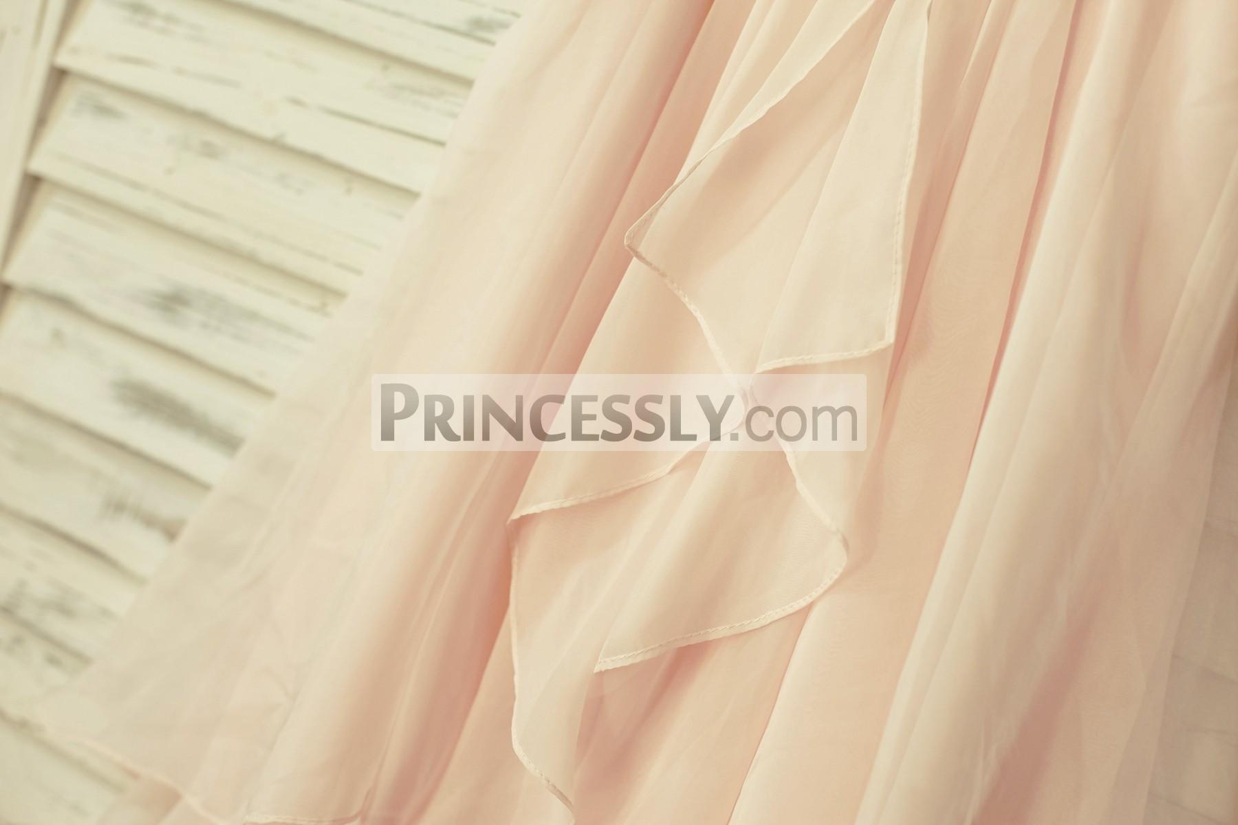 Blush Pink Chiffon Skirt