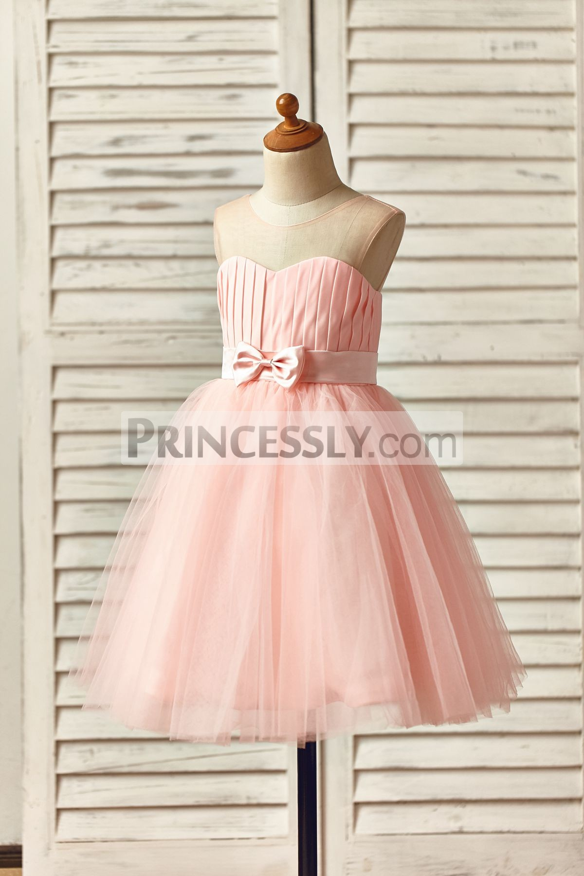 Sleeveless Slightly Ball Gown Princess Baby Girl Dress