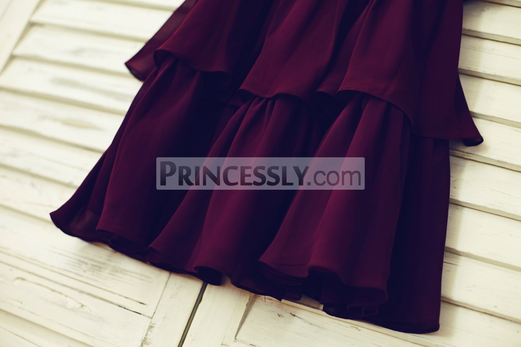 Purple Plum Chiffon Skirt