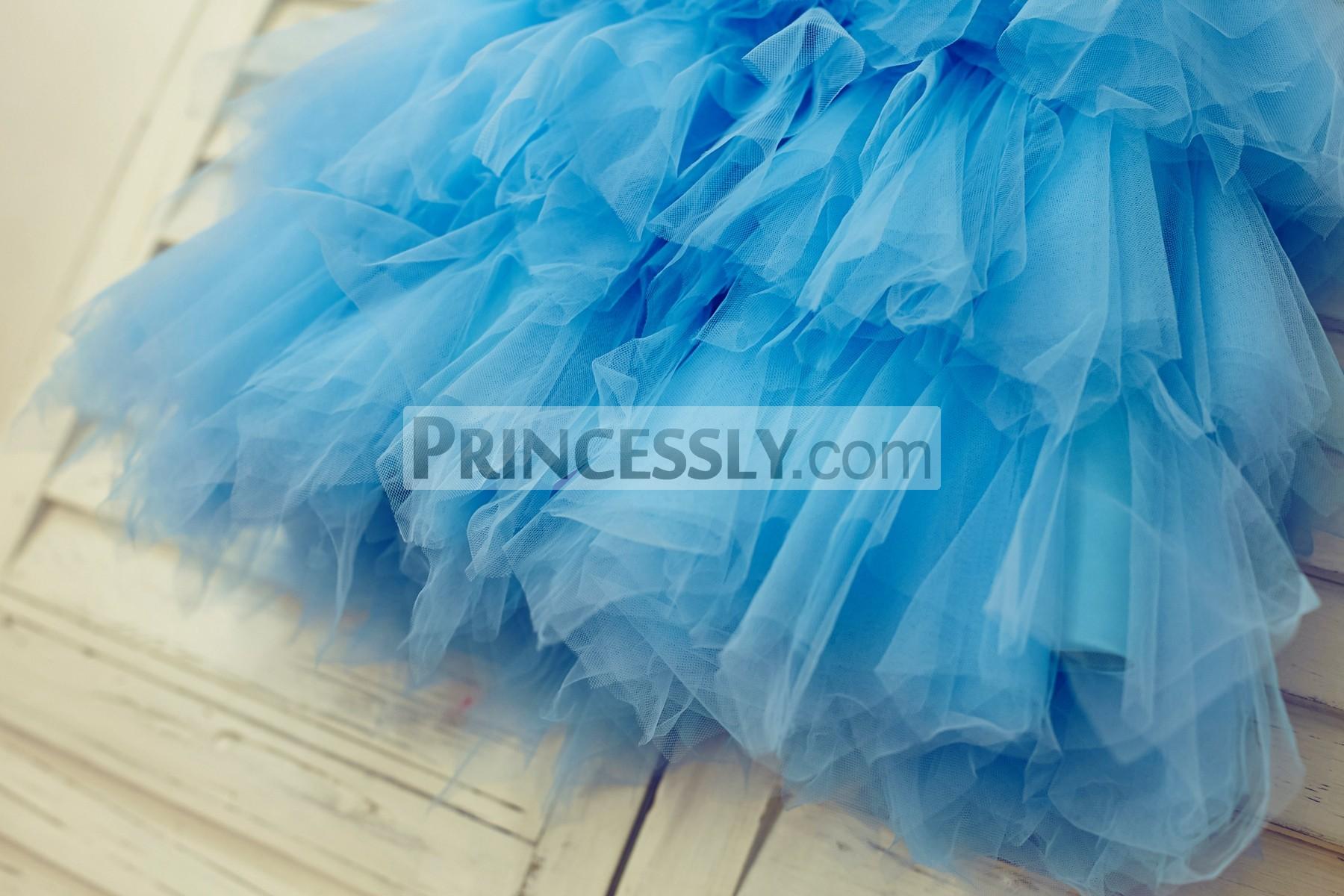 Blue tutu tulle skirt