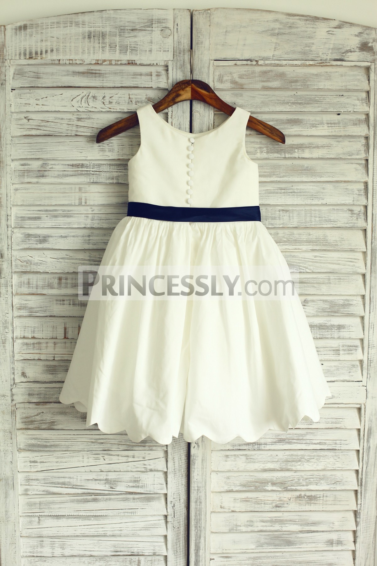 Ivory cotton wedding little girl dress