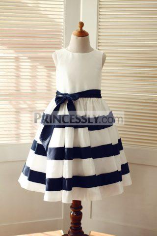 princessly-com-k1003311-ivory-navy-blue-taffeta-stripe-wedding-flower-girl-dress-31