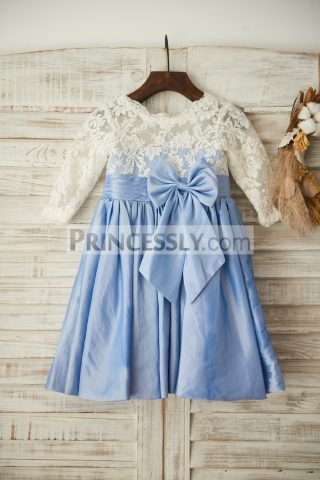 princessly-com-k1003362-ivory-lace-blue-taffeta-long-sleeves-wedding-flower-girl-with-bow-31