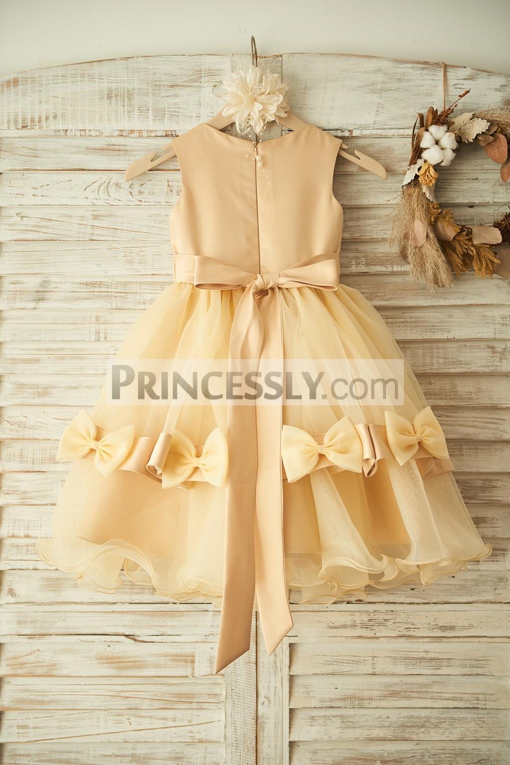 Satin Organza Wedding Baby Girl Dress