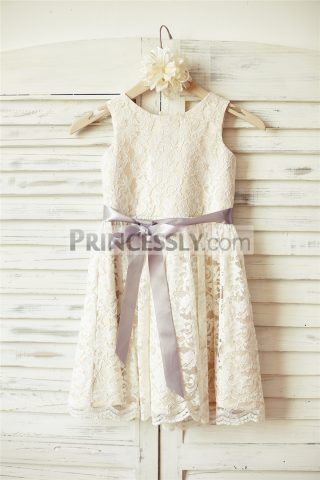 Princessly.com-K1000090-Ivory-Lace-Champagne-lining-Flower-Girl-Dress-with-silver-sash-31