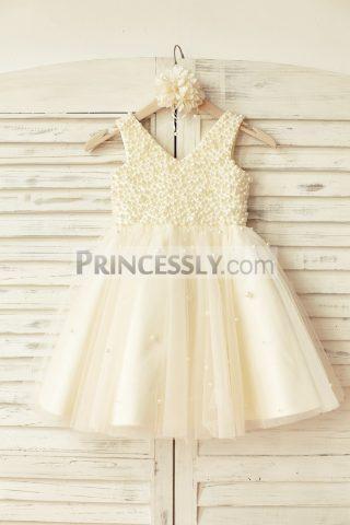 Princessly.com-K1000109-V-Neck-Champagne-Tulle-Pearl-Beaded-Flower-Girl-Dress-31