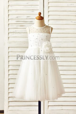 Princessly.com-K1000150-Sheer-Neck-Beaded-Ivory-Tulle-Flower-Girl-Dress-with-sash-flower-31
