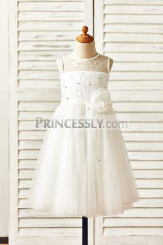 Princessly.com-K1000150-Sheer-Neck-Beaded-Ivory-Tulle-Flower-Girl-Dress-with-sash-flower-31