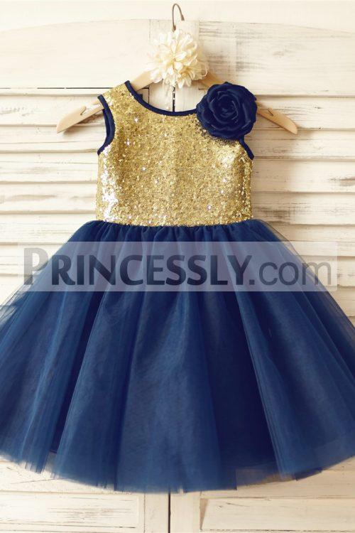 Princessly.com-K1000141-Gold-Sequin-Navy-Blue-Tulle-Flower-Girl-Dress-31