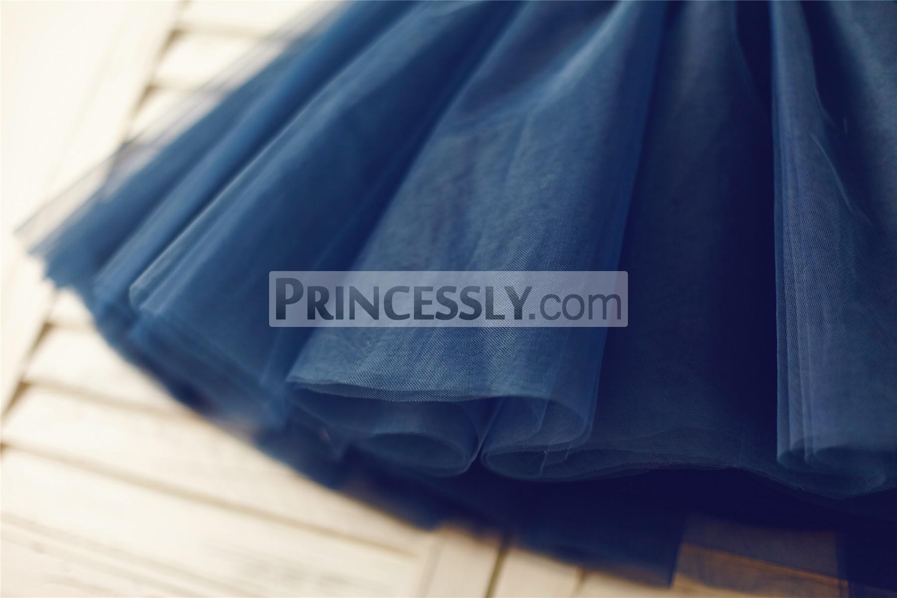 Navy blue tulle skirt
