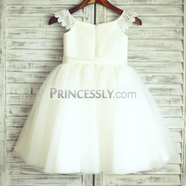 Hidden zipper back TUTU skirt wedding baby girl dress