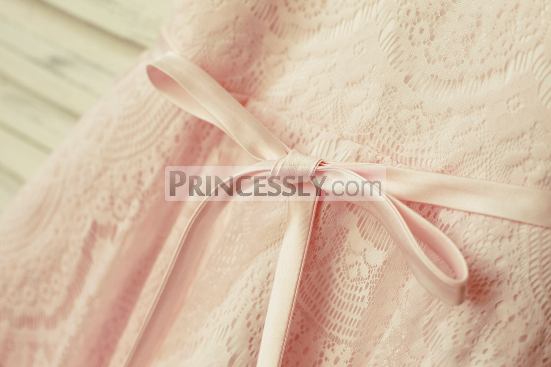 Super long satin sash with a bow knot