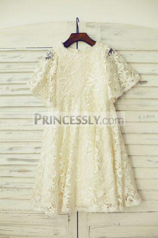 Princessly.com-K1000204-Short-Puffy-Sleeves-Light-Champagne-Crochet-Lace-Flower-Girl-Dress-31