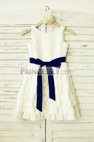 Princessly.com-K1000118-Ivory-Taffeta-Cupcake-Flower-Girl-Dress-with-Navy-Blue-Sash-31