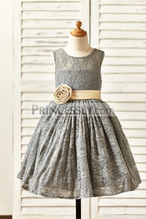 Princessly.com-K1000144-Grey-Lace-Flower-Girl-Dress-with-champagne-sash-flower-31