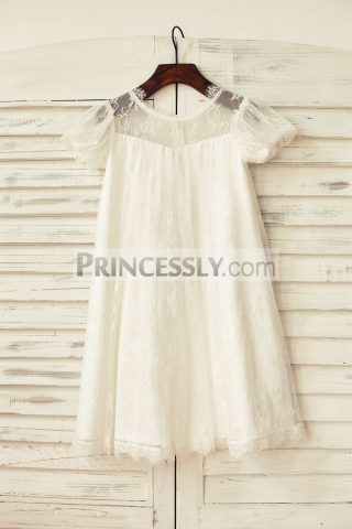 Princessly.com-K1000174-Short-Puffy-Sleeve-Ivory-Eyelash-Lace-Flower-Girl-Dress-31