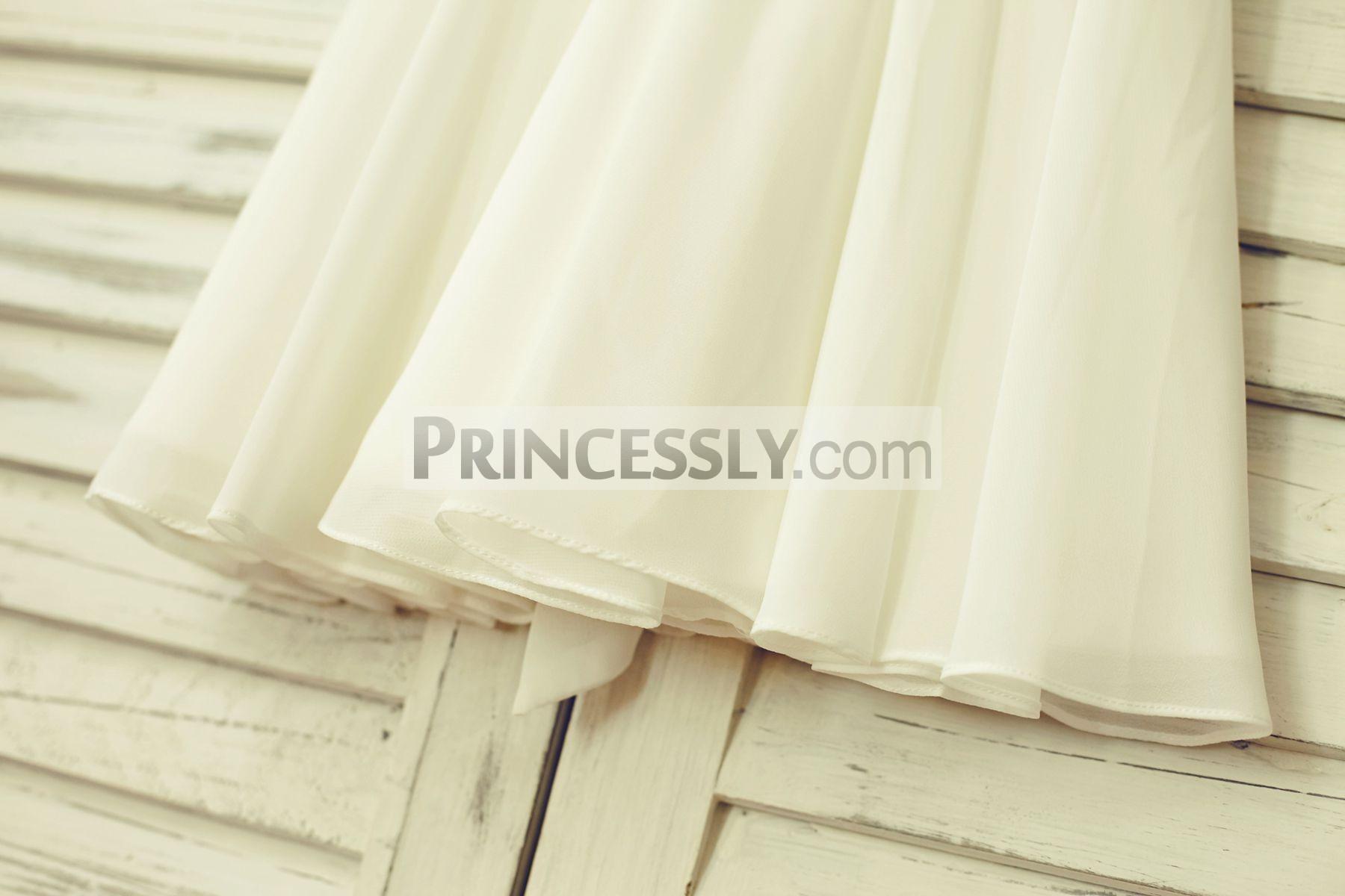 Flow ivory chiffon skirt