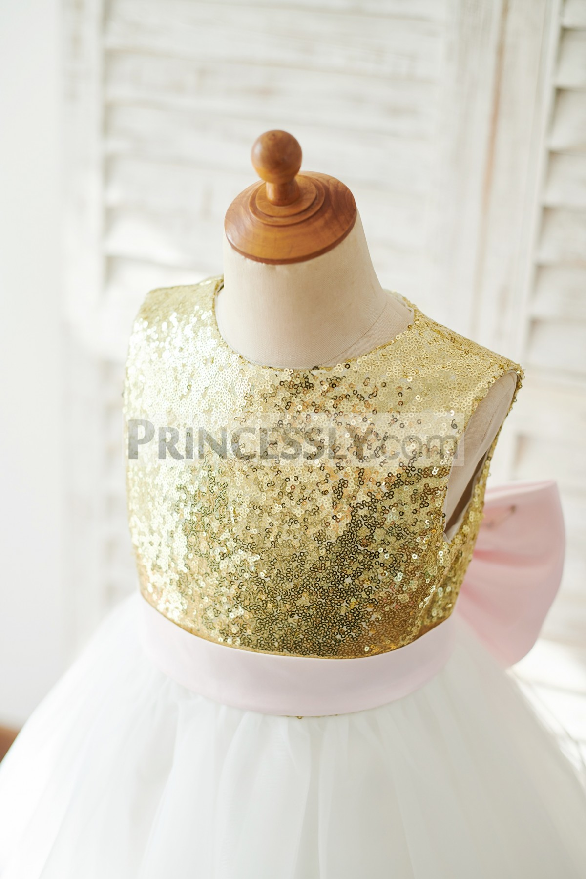 Gold Sequins Bodice