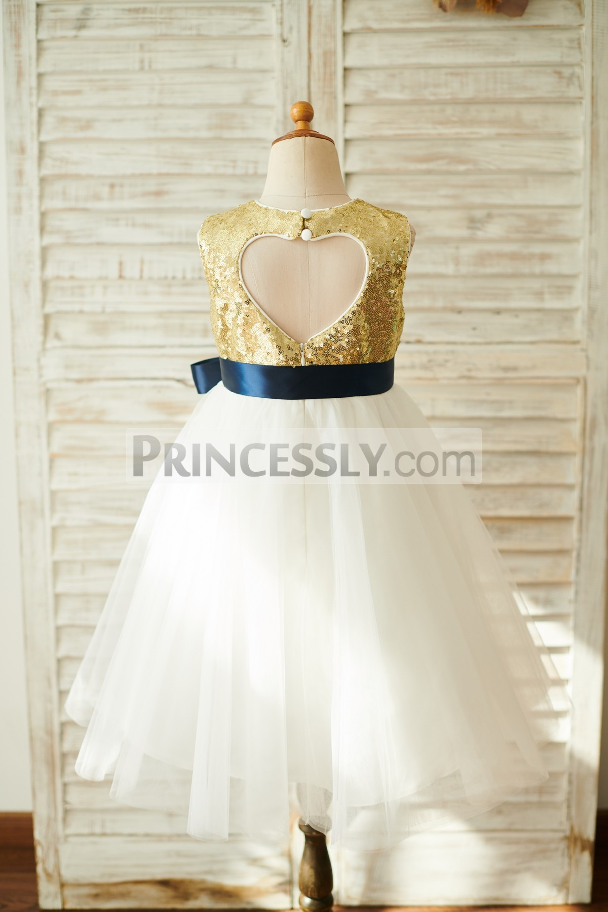 Sweetheart Keyhole Back Wedding Baby Girl Dress