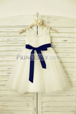 Princessly.com-K1000181-V-Neck-Ivory-Lace-Tulle-Flower-Girl-Dress-with-navy-blue-sash-31