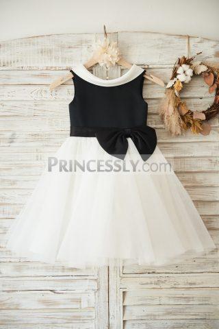 Princessly.com-K1003495-Black-Satin-Ivory-Tulle-Wedding-Flower-Girl-Dress-with-V-Back-31
