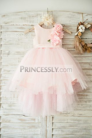 Princessly.com-K1003501-Hi-low-Pink-Dot-Tulle-Wedding-Flower-Girl-Dress-with-3D-Flowers-31
