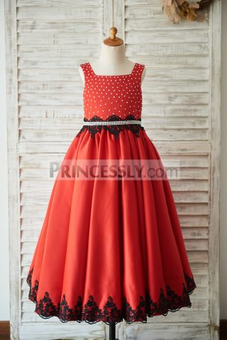 Princessly.com-K1003507-Red-Satin-Square-Neck-Wedding-Party-Flower-Girl-Dress-with-Beads-Black-Lace-Trim-31