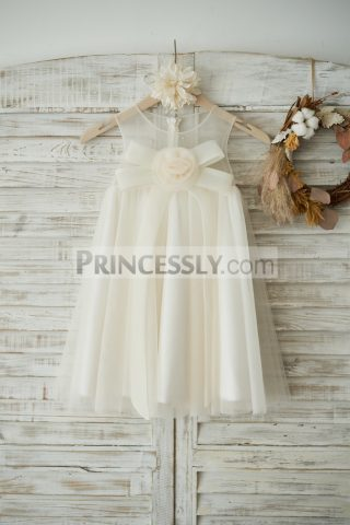 Princessly.com-K1003536-Boho-Beach-Champagne-Tulle-Wedding-Flower-Girl-Dress-with-Bow-31