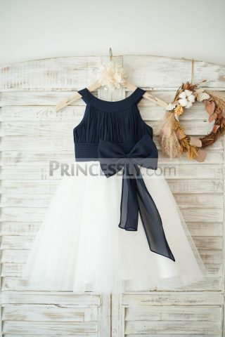 Princessly.com-K1003550-Navy-Blue-Chiffon-Ivory-Tulle-Halter-Neck-Wedding-Flower-Girl-Dress-with-Bow-31