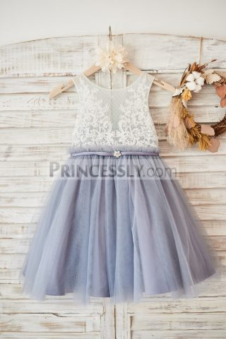 Princessly.com-K1003580-Ivory-Lace-Gray-Tulle-Sheer-Back-Wedding-Flower-Girl-Dress-with-Belt-31