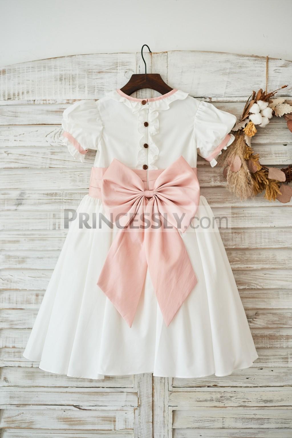 Cotton Vintage Wedding Little Girl Dress