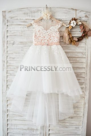 Princessly.com-K1003591-Cap-Sleeves-Ivory-Lace-Tulle-Hi-Low-Wedding-Party-Flower-Girl-Dress-with-V-Back-Beading-31