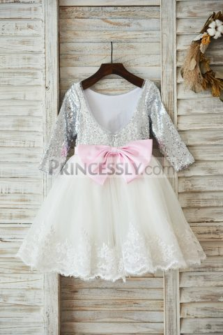 Princessly.com-K1003595-Long-Sleeves-Silver-Sequin-Ivory-Lace-Tulle-Deep-V-Back-Wedding-Flower-Girl-Dress-Holiday-Party-Dress-32