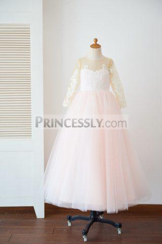 Princessly.com-K1003628-Long-Sleeves-Ivory-Lace-Pink-Tulle-Sheer-Back-Wedding-TUTU-Flower-Girl-Dress-32