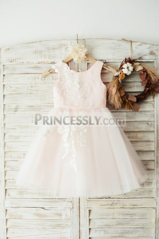 Princessly.com-K1003644-Ivory-Lace-Tulle-Pink-Satin-Wedding-Flower-Girl-Dress-Junior-Bridesmaid-Dress-31